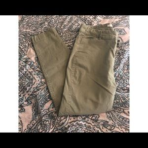 Olive green jeans